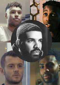 We love Drake, say Ox, Zaha, Wilshere, Rose