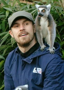 Ramsey: it's not every day a lemur sits on your head