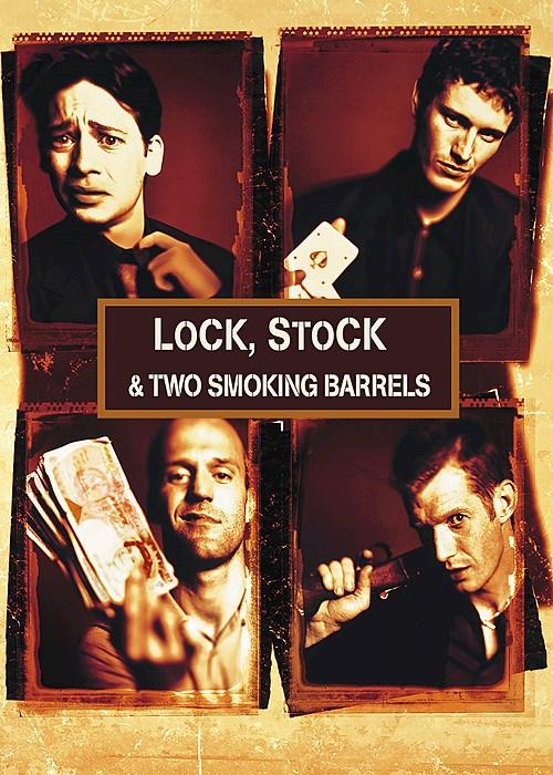 Stock lock two smoking barrels
